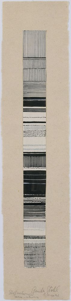Gunta Stölzl - Watercolor and ink fabric design, 1919–1925