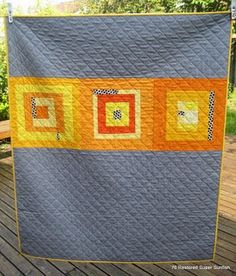 simple modern quilt - this would make a nice backing too