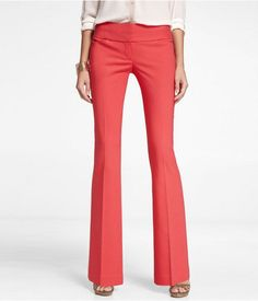 Express Womens Ultimate Double Weave Wide Waistband Editor Pants