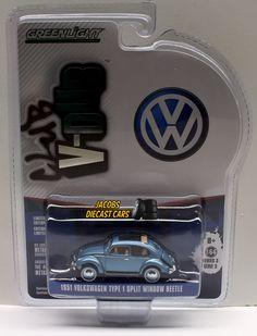 1:64 GREENLIGHT CLUB V-DUB SERIES 3 - 1951 VOLKSWAGEN TYPE 1 SPLIT WINDOW BEETLE #Greenlight #Volkswagen
