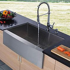 @Overstock - This faucet, sink and dispenser set will lend sophistication to your kitchen. This Vigo farmhouse sink includes a chrome finish faucet and dispenser.http://www.overstock.com/Home-Garden/Vigo-Farmhouse-Stainless-Steel-Kitchen-Sink-Dispenser-and-Faucet/4739502/product.html?CID=214117 $516.99