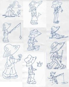 Bluework Little Farmer by Glenn Harris OUT-1Z77 [EPB846] - $10.00 : Embroidery Passbook Mall, Instant download Embroidery Designs