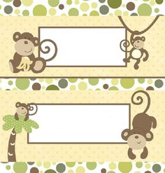 Monkey Candy Bar Wrapper
