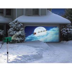 The Only Animated Holiday Scenes Projector - Hammacher Schlemmer