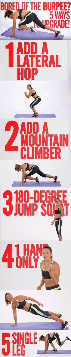 Try these great variations on the classic all body workout. Lose weight, get fitter and stronger today!