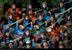 Kurdish Tambûr Players from Kirmaşan, Iran. The use of this Instrument dates back to the Arkaddian era of Mesopotamia. Images on rocks near the Kurdish City of Mosul who dates back to 1.000 B.C., shows clearly tanbur players. The Tanbûr was already present in the 3rd century at the court of the Sasanids in Iran. The word 'Tanbûr' is also found in middle Persian and Parthian language texts. Yazidi and Yarsani Kurds for example use the Tambûr to accompany their sacred hymns and ceremonial…