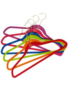 Joy Mangano's Huggable Hangers from HSN. They are durable and don't break like Target's brand. They don't leave marks on shoulders/sleeves; wet clothes can be hung on them w/out color bleeding; they save A LOT of space in your closets. Love them!!! Liven up #laundry time and keep your #closet tidy with these feminine and functional hangers. They come in a variety of colors so you can match your room's decor. #organizing