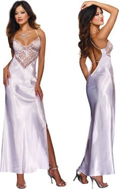 1000 Images About Long Satin Nightgowns On Pinterest