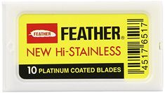 Feather Double Edge Blades, 10 Count. For product & price info go to:  https://beautyworld.today/products/feather-double-edge-blades-10-count/