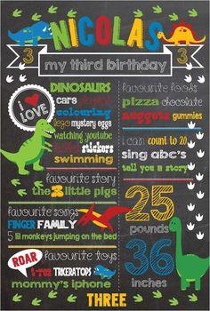 Dinosaur Birthday Chalkboard Sign by shortyitsurbirthday on Etsy
