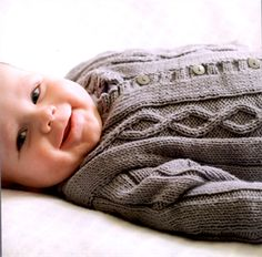 Babies Knitting Patterns Cabled Jacket Pattern