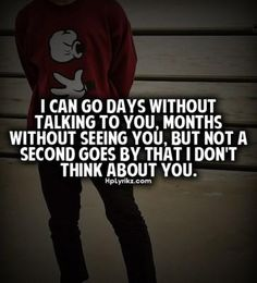 thats true love for a person! constant thought