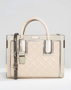 Image 1 of River Island Patent Crossbody Tote Bag River Island Tote Bags 287f56d841044
