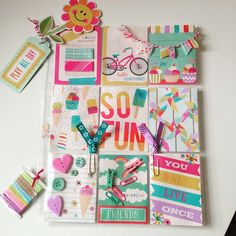 Outgoing summer themed pocket letter