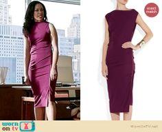 Jessica's magenta/purple size zip dress on Suits. Outfit Details: http://wornontv.net/19223
