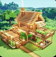 Minecraft House Plans, Minecraft Houses Survival, Easy Minecraft Houses, Minecraft House Tutorials, Minecraft House Designs, Minecraft Tutorial, Minecraft Blueprints, Minecraft Crafts, Minecraft Buildings