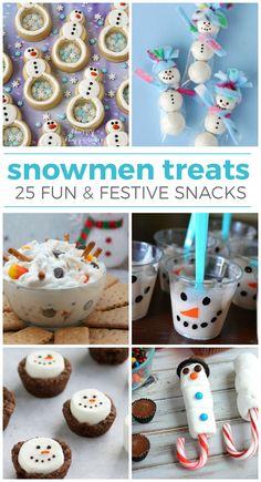 25 Yummy Snowmen Treats and Snacks