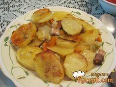 Pečeni krompir sa slaninom i povrćem