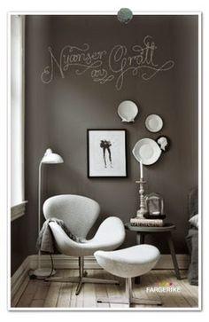 Michelle - Blog #A #Small #Armchair Fonte : http://www.frufly.blogspot.dk/2011/11/male-svart-vegg.html