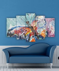 Take a look at this Painterly Butterfly Five-Panel Wall Art today!