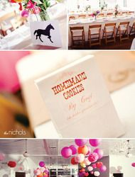 Colorful, DIY Eco-Chic Wedding, IV  Read more - http://www.stylemepretty.com/2009/08/11/colorful-backyard-wedding-iv/