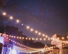 Charming Cafe Lights on Main Street at Dallas Heritage Village