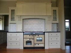 Falcon Cream 110cm Rangecooker / oven. in Victorian setting. Great mix of colours and design.
