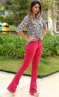 eucapricholook5 Como usar: calças coloridas