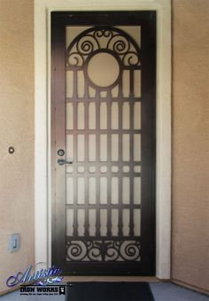 Plasma Cut Iron Security Door - SD0281
