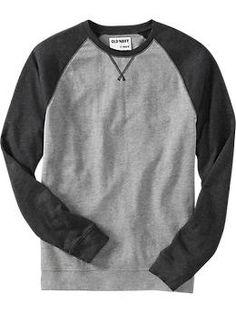 Old Navy Mens Baseball Terry Sweatshirts #poachit