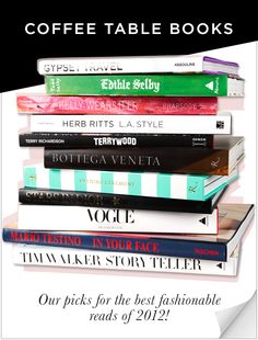 Best coffee table books<3