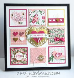 Julie's Stamping Spot -- Stampin' Up! Project Ideas by Julie Davison: Control Freaks Blog Tour: Valentine Sampler + Sky is the Limit Card