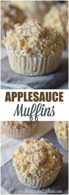 One of our favorite things is a treat that is healthy enough for breakfast and yummy enough for dessert like these Applesauce Muffins.