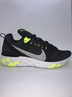 the best attitude 0978c 4fd85 Nike React Element 55 Black Volt BQ6166-001 Mens Size 11.5  fashion   clothing  shoes  accessories  mensshoes  athleticshoes (ebay link)