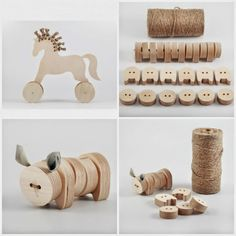 Beautifully simple wooden and hemp toys from iM Studio