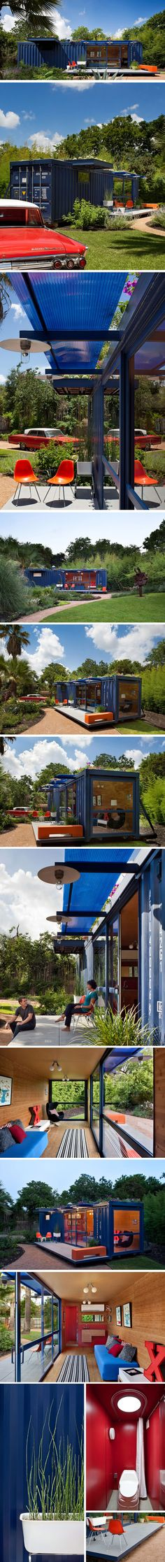 A house or studio built from a shipping container - only possible in a place where you don't need insulation? I like the challenge of living in a space that small.
