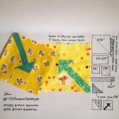First block for doubledutch random sampler, tutorial in profile #ddrandomsampler #centerarrowblock enjoy! | by Lotje quilts