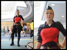 Fan wearing ready made (I think) Star Trek corset. FanEx12 - Steampunk Star Trek by ~Midnight-Dare-Angel on deviantART