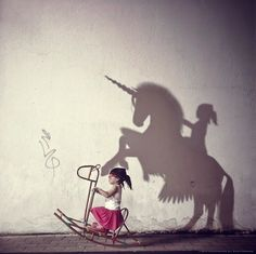 Children can imagine anything, children imagination, shadow pictures, power of imagination, importance of imagination Real Unicorn, Unicorn Quiz, Oeuvre D'art, Angels And Demons, Belle Photo, Art Studios, Dream Big, I Have A Dream, The Dreamers