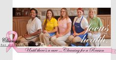Cleaning For A Reason is a nonprofit serving the US and Canada. Our mission is to provide free house cleaning for women undergoing treatment for cancer.