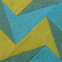 love the color and shape in this block #quilting #patchwork