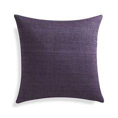 "Michaela Grape Purple 20"" Pillow | Crate and Barrel"