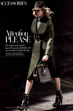 Harpers Bazaar Military Fashion Your country needs you: military fashion inspiration