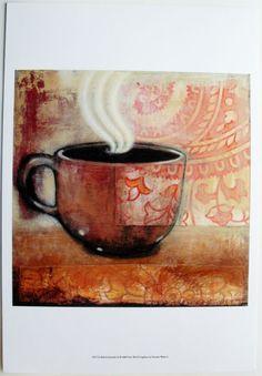 Coffee Cup Art Print, Rich & Smooth III, by Norman Wyatt Jr. | eBay $20.99