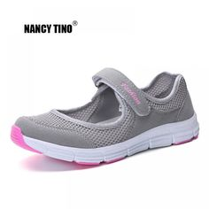 NANCY TINO Women Breathable Athletic Shoe Quick-drying Non-slip Soft Sole Flat Sneakers Female Outdoor Sport Walking Shoes 35-42 Price: 26.40 & FREE Shipping #staysafe #practicesafetyguidlines #fashion #sport #tech #lifestyle Womens Summer Shoes, Womens Flats, Casual Sneakers, Casual Shoes, Sneakers Women, Shoes Women, Pointed Toe Block Heel, Flat Gladiator Sandals, Walking Shoes
