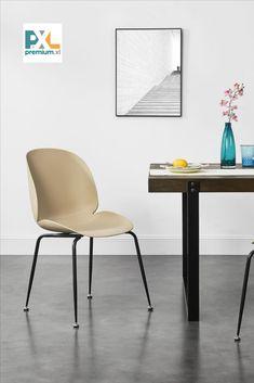 """Tieto pohodlné a štýlové dizajnové plastové stoličky """"Konin"""" ABMS-3029 sa hodia nie len k jedálenskému stolu, ale aj do pracovne, haly, či čakárne alebo zasadačky. Stabilné vďaka kovovým nohám, s ochranami podlahy. Jemná matná textúra škrupiny stoličiek je príjemná na dotyk a ponúka vynikajúce pohodlie pri sedení na nich. #premiumXL #bývanie"""