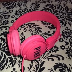 Victoria's Secret headphones Pink VS PINK headphones, last picture shows length when pulled out. NEVER been used PINK Victoria's Secret Accessories