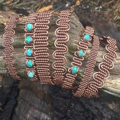 A couple rainy days + waiting on a shipment of wire= woven copper bracelets. Deals on multiples