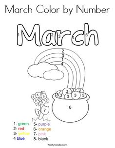 Happy March Coloring Page TwistyNoodlecom St Patricks Day