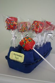 Recycle An Egg Carton For Cake Pop Or Marshmallow Pop Stand #fooddecoration, #food, #cooking, https://facebook.com/apps/application.php?id=106186096099420